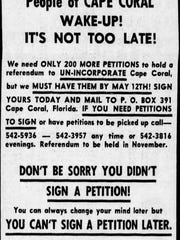 On May 13, the News-Press reported that the petition