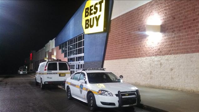 Police say that a man beat a 9-year-old girl, whom he did not know, in the bathroom of this Best Buy in Jacksonville.