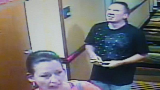 The Palm Bay Police Department is seeking a pair of suspects in reference to a theft of a coin-operated machine, they say.