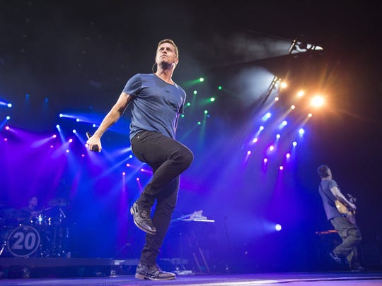 Matchbox Twenty with front man Rob Thomas perform at