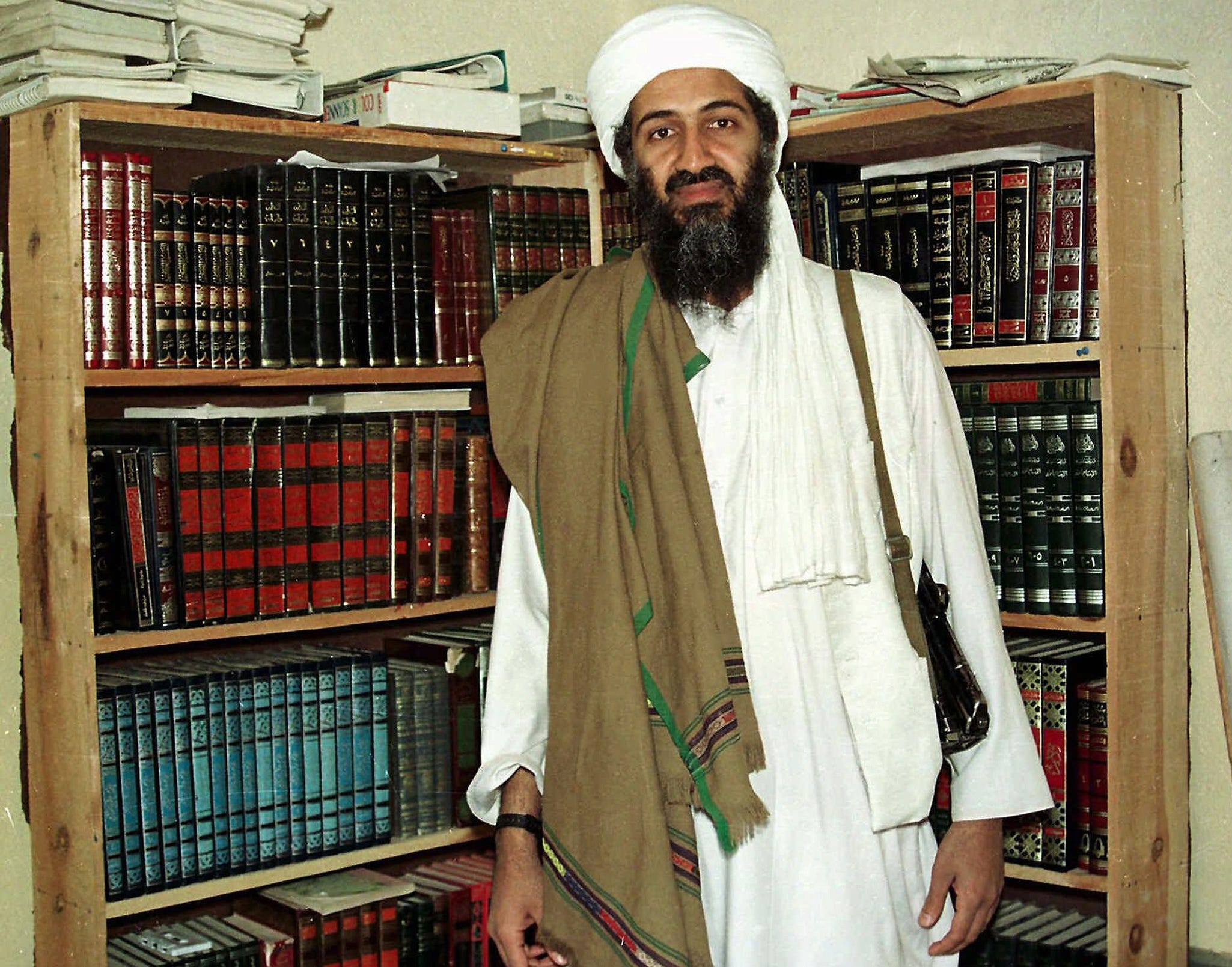 Osama bin Laden poses for a photograph on March 31, 1998, in Afghanistan.