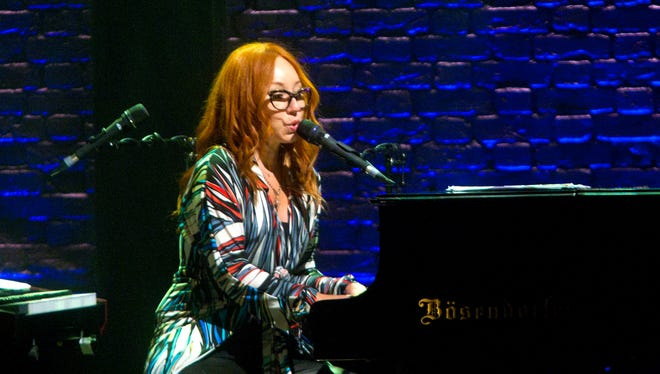 """Tori Amos opens with a performance of """"Parasol"""" at the Mesa Arts Center. Tori Amos performed music from her new album """"Unrepentant Geraldines"""" along with other hits at the Mesa Arts Center on July 25, 2014."""