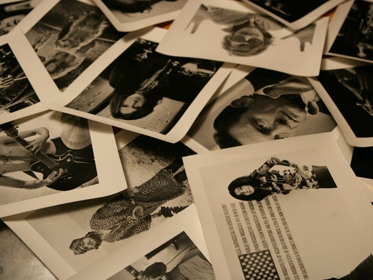 """A pile of rock-musician photos by """"Melody Maker"""" photographer"""