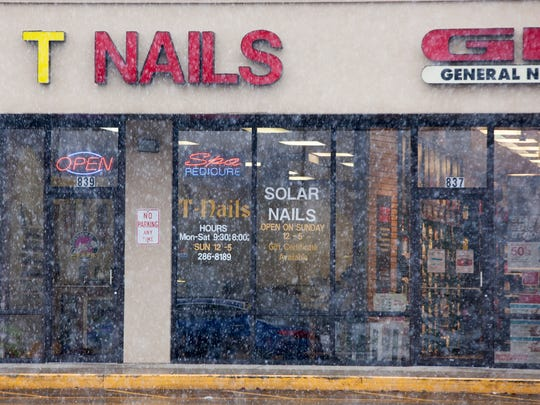 The T Nails salon on South Tillotson Avenue is shown in this file photo.