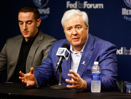 August 1, 2014 - Grizzlies General Manager, Chris Wallace,