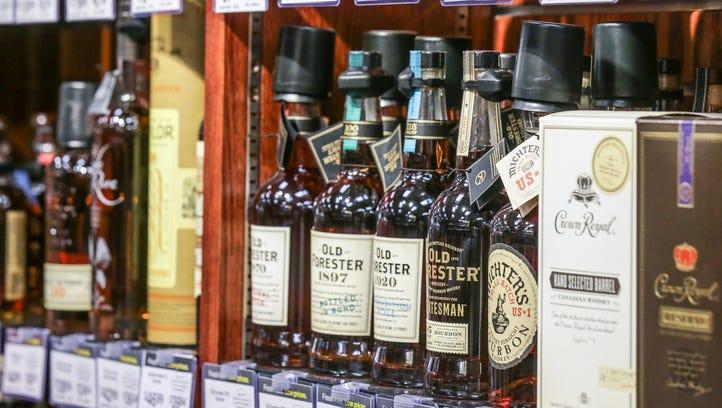 Liquor isle at the Kroger, 1217 S. Rangeline Rd. in