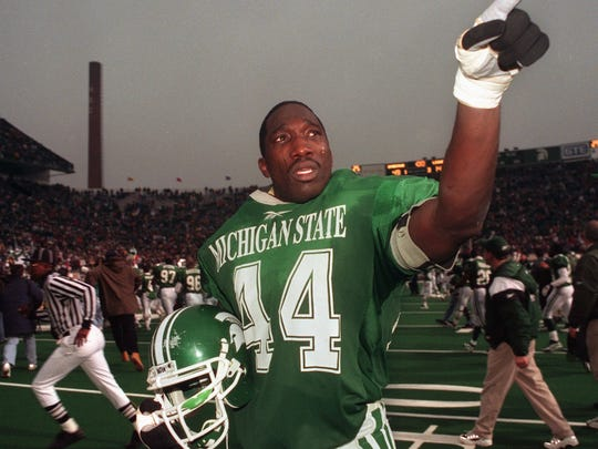 An emotional Ike Reese leaves the field at Spartan Stadium for the last time in his college career with a great victory.