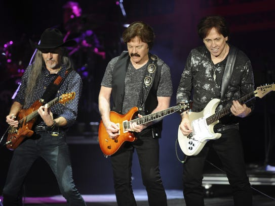 The Doobie Brothers perform at Irvine Meadows Amphitheater.