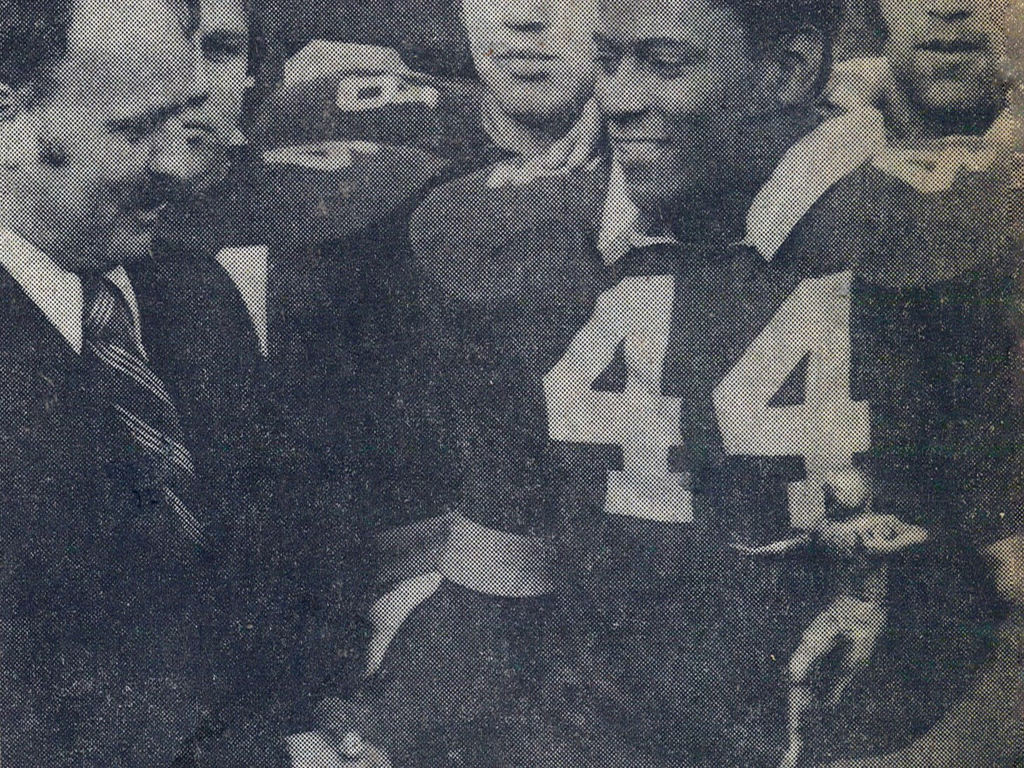 Lonnie Burgess accepts an award during his playing days at Red Bank Catholic.