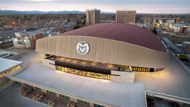 Aerial shot of Moby Arena on the CSU campus. After not being part of conference expansion talk five years ago, CSU has positioned itself well for a move to the Big 12.