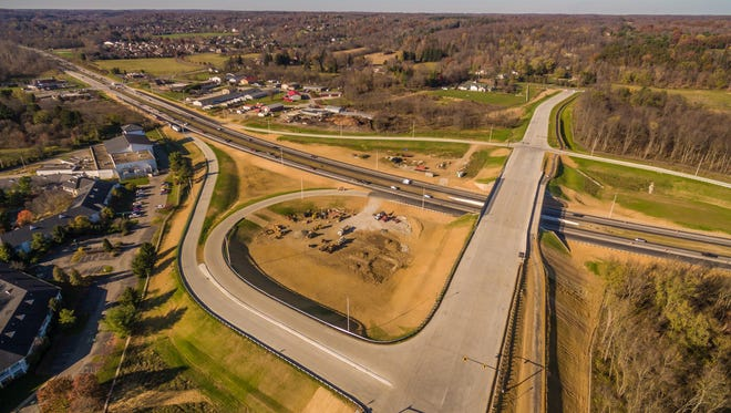 John Rossignol's drone photography shows the Cherry Valley interchange.