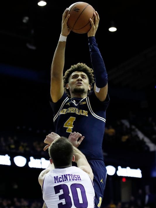 NCAA Basketball: Michigan at Northwestern
