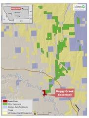 Buggy Creek map