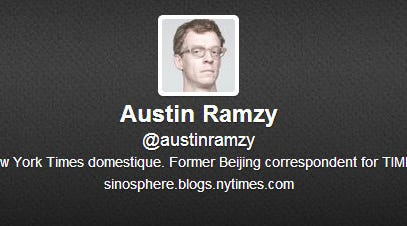 Part of Austin Ramzy's Twitter profile.