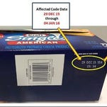 Kraft Heinz has issued a voluntary recall of 3 or 4 pound select packages of Kraft Singles due to a choking hazard.