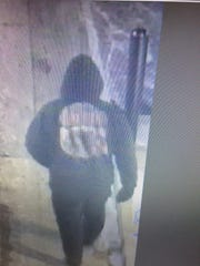 The suspect in a bank robbery at the Mechanics Bank