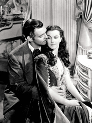 """Clark Gable and Vivien Leigh appear in 1939's """"Gone"""