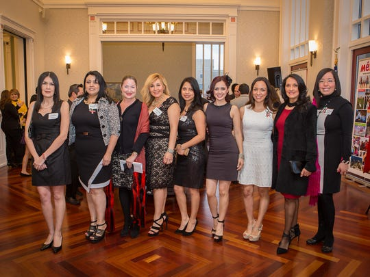 AMIGOS guests with President Cecilia Alvarez Heard at the Center for the Performing Arts on Feb. 27, 2015.