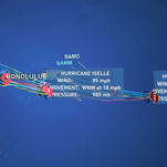 Path of hurricane Iselle and Julio