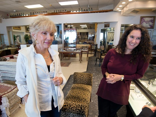 Dian Stein (left) and Mauria Stein are the wife and daughter of Jay Stein, a Rehoboth Beach business owner who died in 2014. His wine collection will be auctioned off this month at Christie's in New York City.