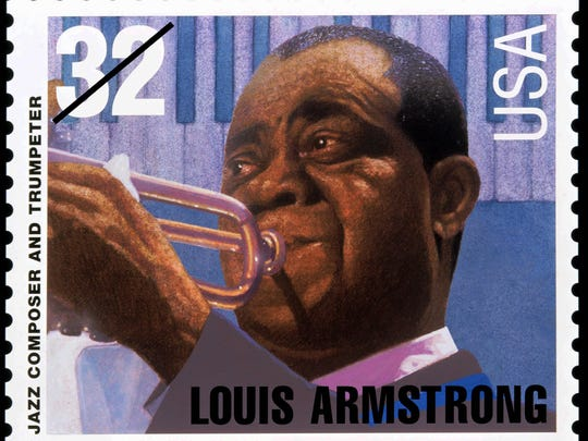 The U.S. Postal Service honored jazz trumpeter Louis Armstrong with a commemorative stamp released in New Orleans on Friday, Sept. 1, 1995.