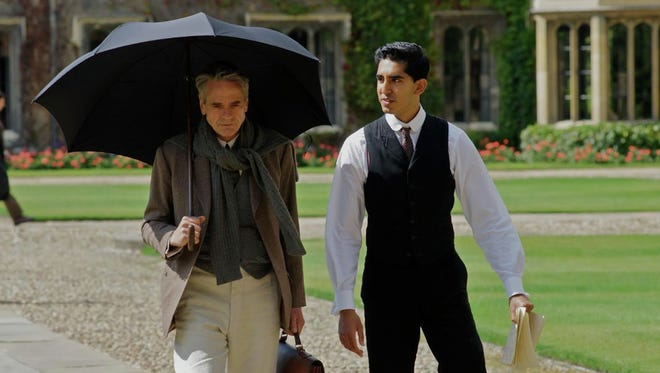 "Jeremy Irons and Dev Patel in ""The Man Who Knew Infinity."""