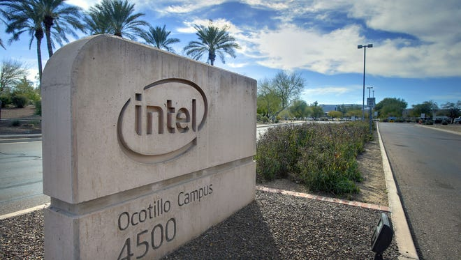 """The work in Fab 42 will """"be the most advanced semiconductor process technology used in the world,"""" Intel said."""