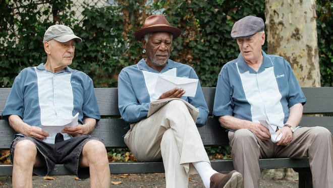 """Morgan Freeman, Alan Arkin, and Michael Caine in """"Going in Style."""""""