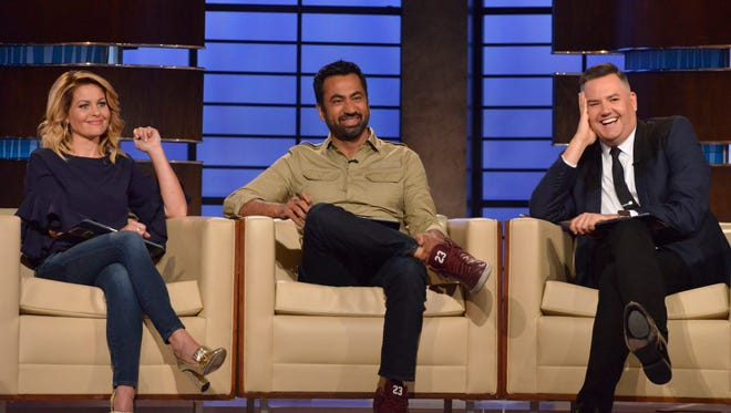"""(L to R) Candace Cameron Bure, Kal Penn and Ross Mathews make up the celebrity panel on """"To Tell the Truth,"""" airing Sunday, July 15 on ABC Television Network."""