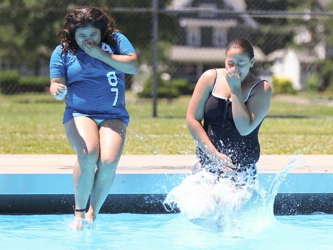 Kids having fun at Rec Park Pool in Binghamton. The pool is open 12:30-7:45 p.m. every day through Sept. 1.