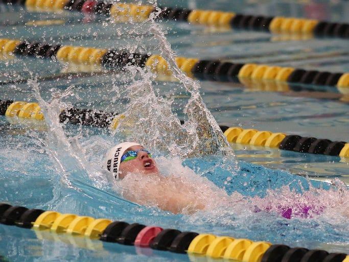 Indianola junior Tyler Juffernbruch swims the first