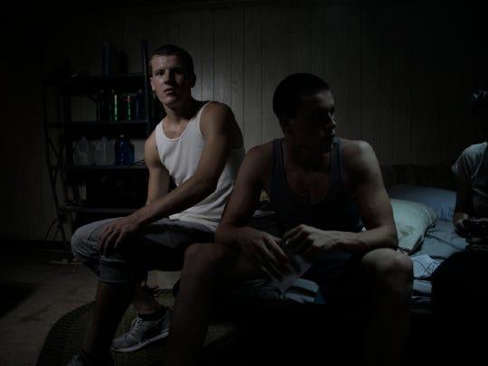 Alexei (David Ivanov, left) and Frankie (Harris Dickinson)