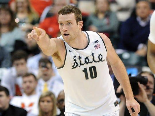 Michigan State Spartans forward Matt Costello leads