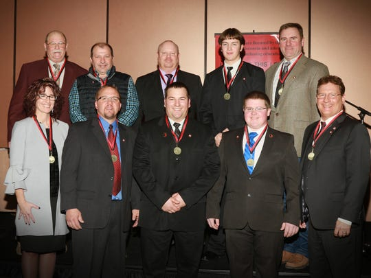 Top Ten Finalists will be moving on to the WI State Champion Auctioneer contest to be held in August at the WI State Fair. Finalists include Stan Jones, Dave Lulich, Mark Oberholtzer, Joe Mellem, Christopher Sund, Ray Henry, Randy Stockwell, Kale George, Kathy Packard, and Jenny Gehl.