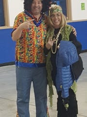 Jess Yaksich and Alicia Annala dressed to impress as RMS went back to the 60s during its One Book, One Community program.