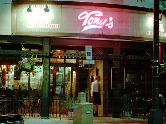 Tony's Bar is known for a Wednesday Greek chicken special.