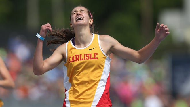 Carlisle senior Kaliegh Haus won the 400-meter hurdles on Friday for a state title that came after numerous past disappointments and heartbreaks.