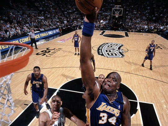 Shaquille O'Neal won three NBA Finals MVP awards during the Los Angeles Lakers three-peat from 2000-02.