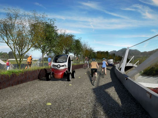 Rendering of the planned 50-mile trail -- the CV Link