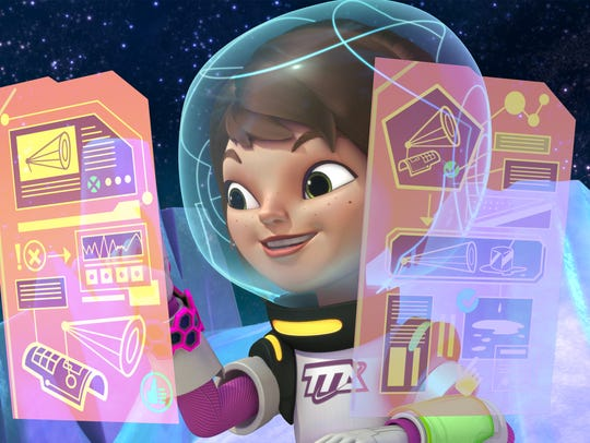 "Loretta, the sister in ""Miles from Tomorrowland,"" uses"