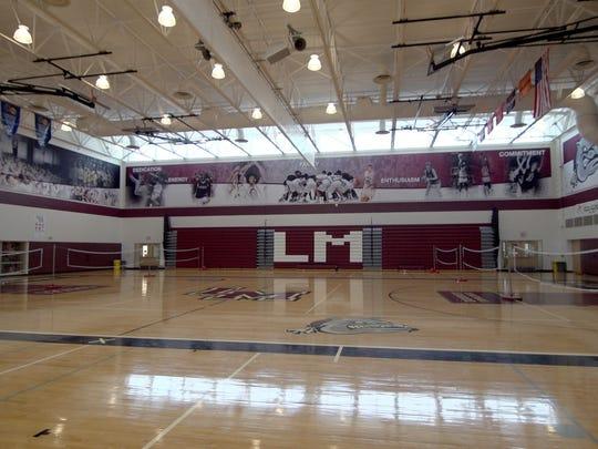 The Lower Merion high school gym.