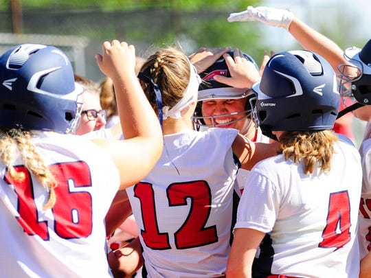 The North Vermilion Lady Patriots are hoping to continue their many home run celebrations during the state playoffs..