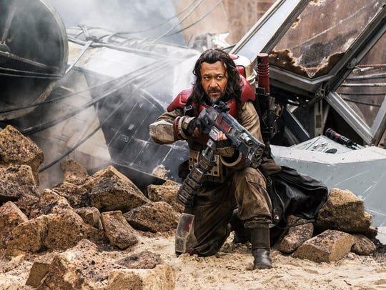 """Jiang Wen as Baze Malbus in  """"Rogue One: A Star Wars"""