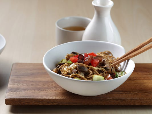 Early-morning eggs and late-night noodles come together in yakisoba