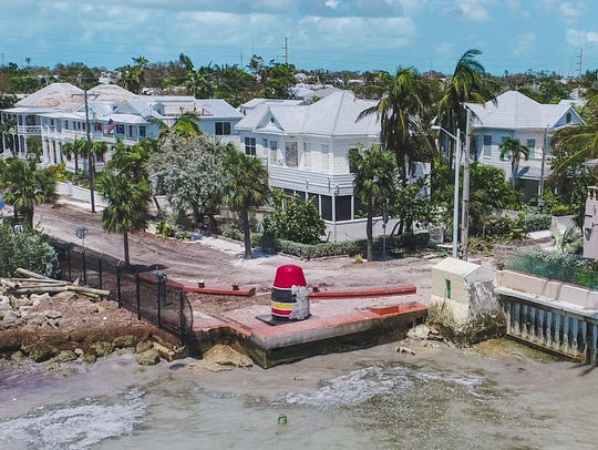 Key West suffered little structural damage from Hurricane