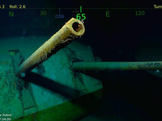 AP USS JUNEAU-WRECKAGE FOUND A