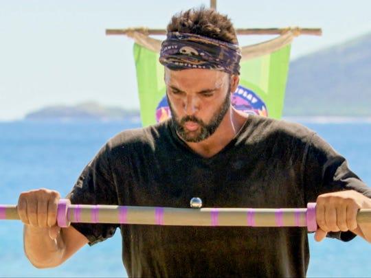 Domenick Abbate on the twelfth episode of Survivor: