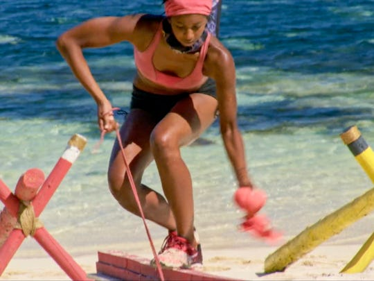 Laurel Johnson on the twelfth episode of Survivor: Ghost Island, airing Wednesday, May 9.
