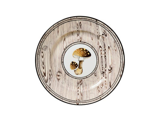 You don't need a truffle sniffing dog to find your own mushrooms. Just set the table with Alberto Pinto's Sous Bois dinnerware, and the fruits of the forest are yours. Buffet plate, $228, graciousstyle.com (Jacques Pepion)