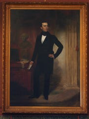 This photo shows a portrait of Stevens T. Mason, the